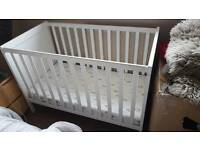 White Ikea cot bed - 2 available (twins?)