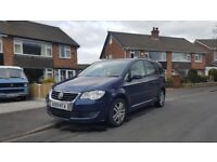 vw touran se tdi in blue.12 months mot.fsh with cambelt change.very good cond in and out