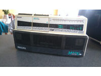 Phillips D8304 Moving Sound Radio Dual Cassette Recorder Boom Box Ghetto Blaster £50 OVNO