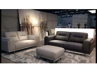 Quality top grade leather 3+2 sofas