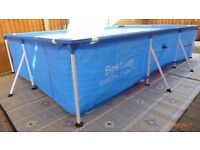 Splash Frame Pool Pro -Steel 300 x 201 x 66 CM Blue.
