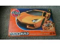 Airfix quick build lamborghini kit, like lego