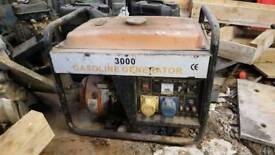 3KVA petrol generator 110v + 230v outlets plus 12v charging
