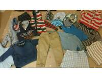 First year baby boy clothes bundle