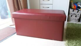 Large Red Ottoman