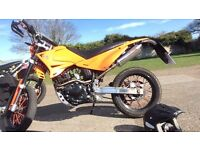 Sinnis Apache 125cc Supermoto, Upgraded Exhaust System, Like New!