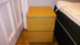 Ikea bed side chest of drawers
