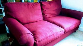 2 x Laura Ashley Abingdon Sofa in Red - BUYER COLLECT