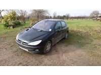 Peugeot 206 2002 Reg - Runs well as has recently had lots of parts replaced in the last year...