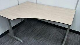 6 x Techo Arkus C (Corner) model desks (1200mm x 1600mm) and matching pedestals