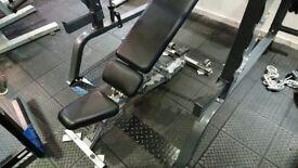Hammer strength commercial adjustable bench