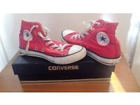 Red Hi Top Converse Trainers
