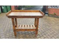 Wooden potting shed bench