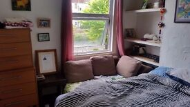Double room in two bedroom house. Shared use of living room, kitchen, bathroom and garden.