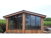 Log cabins insulated & wired