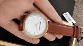 NEW UNUSED Original Grain MINIMALIST 40MM ZEBRAWOOD ROSEGOLD Watch