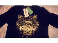 Black & Gold KENZO Paris Jumper
