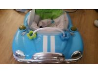 Car Shape Baby Doorway Bouncer - Music/Lights/Sound
