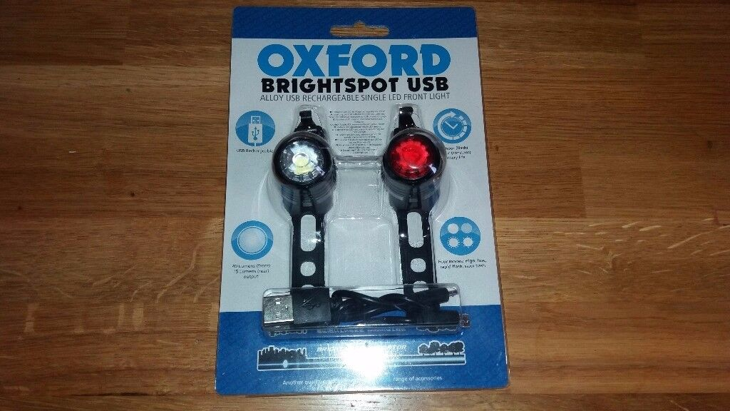 Brand New USB Rechargeable Lights for Mountain/Road/Hybrid Bike