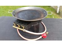 Single Cast Iron Gas Cooker Burner Stove Lpg/propane with pan