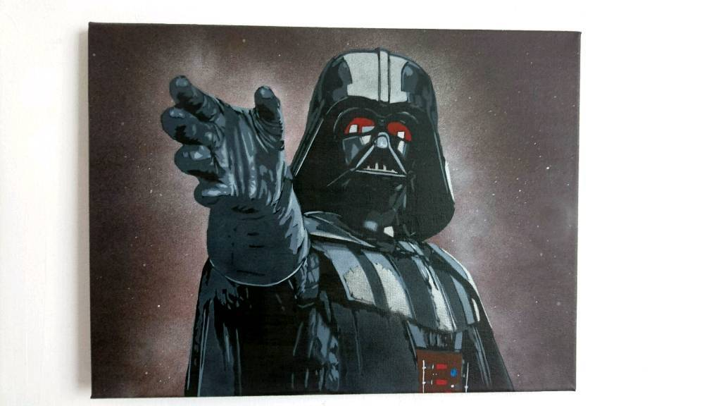 Darth Vader painted canvas