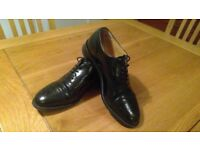Barkers Black Brogue, size 7, loads of wear in both soles and heels, lovely formal shoes