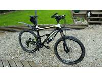 calibre bossnut full suspension mountain bike and lots of accessories