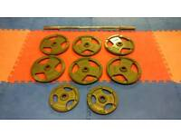 140kg Olympic Weights Plates JORDAN **free bench and barbell**