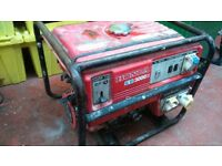 portable petrol generator 3.4 kva easy starter see photos 240/110/volt
