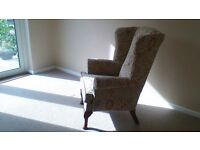 As New Wing Backed Armchair