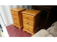 Bedside Cabinets - lovely pair of matching quality bedside tables in solid pine