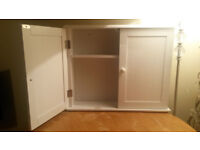 *NEW* White Double Bathroom Wall Cabinet With Adjustable Shelf