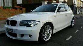 BMW 1 series 118D M Sport alpine white £30 road tax