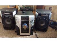 philips fwm387 mini hifi system 3 disc-changer for sale