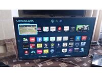 "SAMSUNG 40"" LED TV FREEVIEW HD/SMART/3D/QUAD CORE/WIFI/MEDIA PLAYER/200HZ MINT CONDITION NO OFFERS"