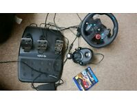 LOGITECH Driving Force G29 Wheel & Gearstick and Project cars 2 for Ps4