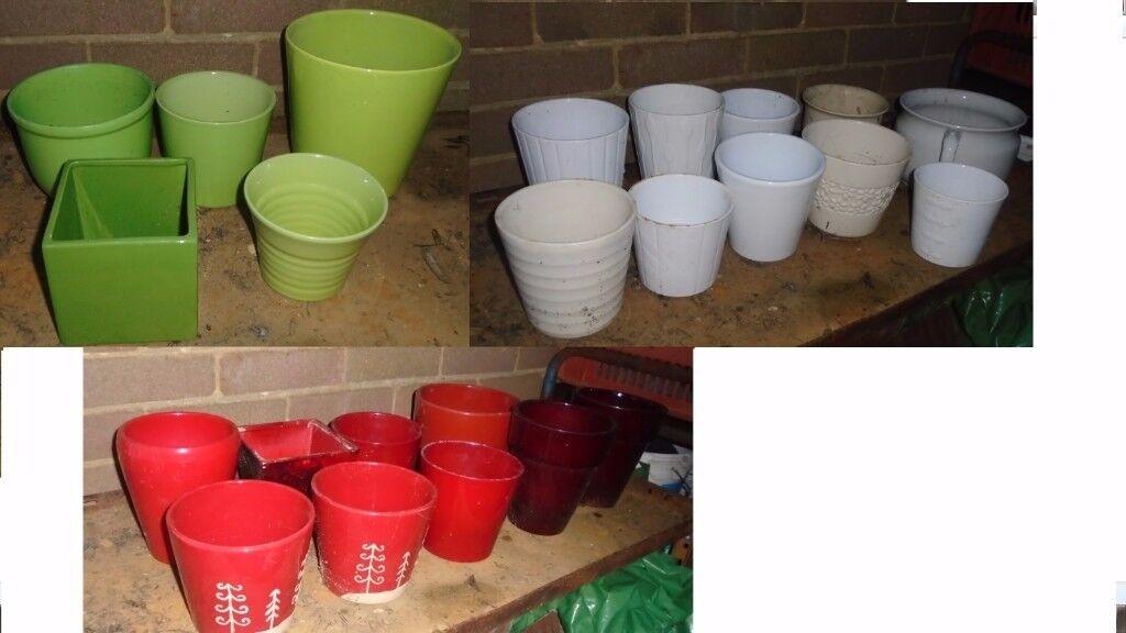 Joblot of indoor plant pots