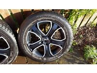 "17"" Alloy Wheels with tyres ZITO"