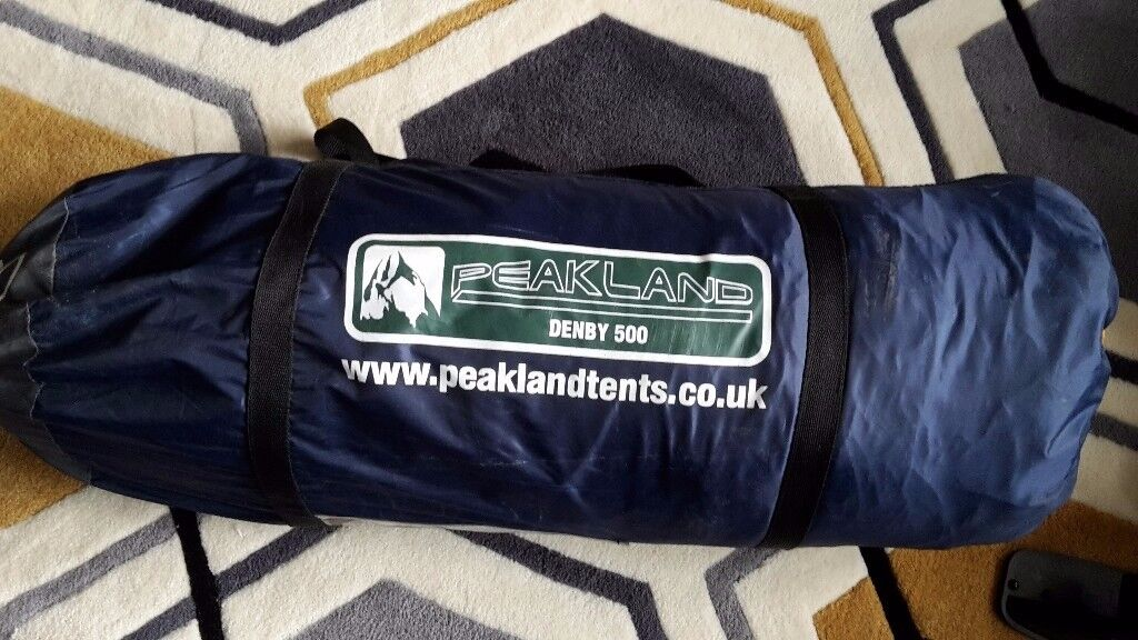 PEAKLAND DENBY 500 TENT USED 1 night 4 MAN TENT