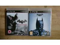 Batman Arkham City & Arkham origins for ps3
