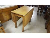 Solid Oak Gate Leg Dining Table