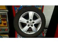 "4 Wheels vectra c 16"" 215 55 16 two good tires and two less good"