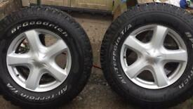 For sale Izuzu D max 2014 wheels and tyres