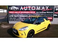 2010 CITROEN DS3 1.6 SPORT YELLOW NEW MOT ON PURCHASEONLY 30K F/S/H ALLOYS CD E/W E/M 6 SPEED BOX +