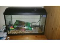 Fish tank for sale with accessories. It needs a pump for it..