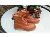 Carolinda made in USA Leather Logger Boots