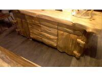 Wooden Sideboard/Kitchen draws.