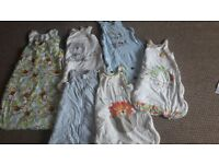 Six Baby Sleeping Bags Various Sizes
