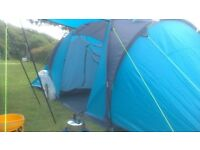 Go Outdoors.Six berth tent. internal sleeping compartments. comes with 74 pegs, hammer,peg puller.