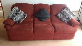 3 seater & 2 seater sofa Burgenday fabric